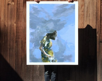 Same Thing .  extra large wall art . giclee print