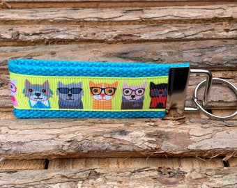 Cat Keychain Gift for Cat Lover Gift for Cat Mom Cat Key chain Gift for Crazy Cat Lady Cat Rescue Kitten keychain Cats keychain I love cats