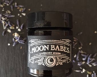 LAVENDER MOON Solid Scent Perfume Stocking Stuffer//Botanical Small Batch Niche Perfume//All Natural Clove & Lavender Perfume Fragrance