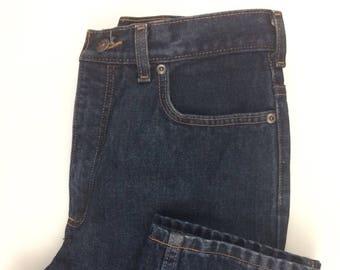 Vintage 90s Lands' End High Waisted Dark Wash Mom Jeans