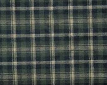 Cotton Flannel Plaid 4 Tartan Fabric by the Yard