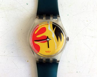 Nafea -- Watch decorated with cheerful abstract shapes -- Swatch