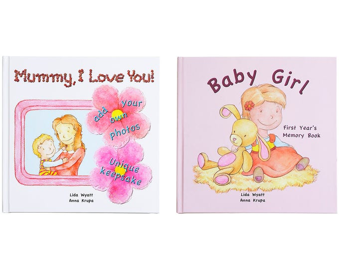 Mummy, I Love You! & Baby Girl Bundle - Choose from 3 Hair/Skin Colour Options