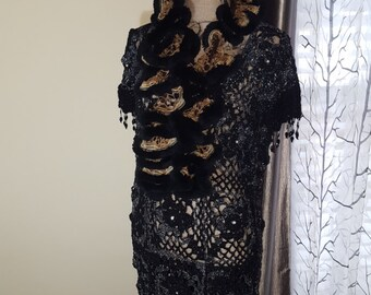 Beautiful party crochet dress. Proceeds go to charity.