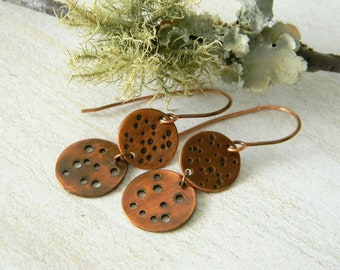 Copper earrings Effervescence handmade copper jewelry seventh anniversary gift unique jewelry 7th anniversary gift for her nature inspired