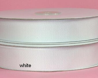 1.5 inch x 50 yds grosgrain ribbon -White