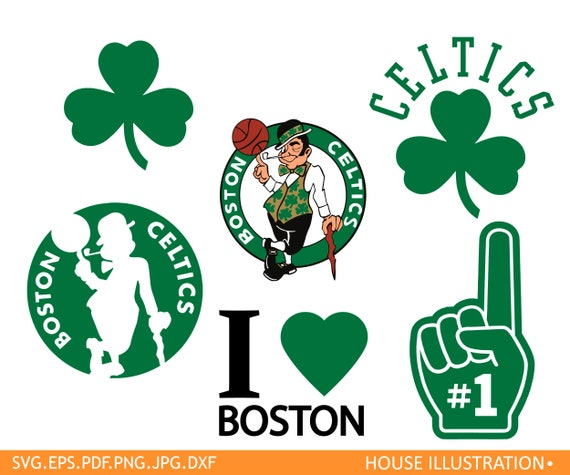 Boston Celtics Cut Files Svg Clipart Vector Pdf Png Dxf From HouseIllustration