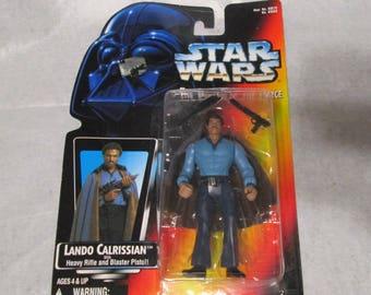Vintage 1996 Kenner Star Wars The Power of the Force Lando Calrissian Orange Card