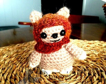 Ewok Inspired Amigurumi doll- MADE to ORDER- Star Wars Inspired dolls