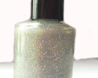 Aurora - Handmade Nail Polish, 5 Free Polish, Holo Polish, Glitter Polish, Indie Polish, Luxury Polish, Holographic Polish