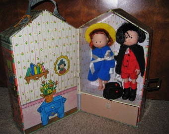 Madeline Doll House Case With Madeline And Pepito Vintage