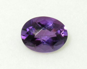 Natural Amethyst  Faceted Oval 9x7 mm Gemstone Cut Stone