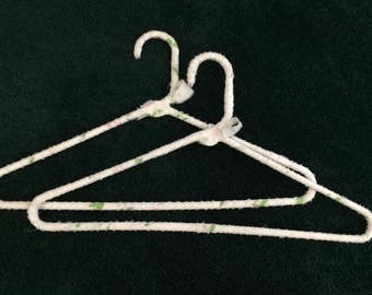 FINAL SALE PRICE!!  Pair Fabric Wrapped Hangers Floral