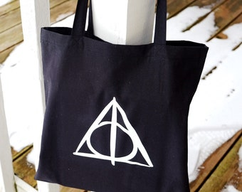 Hallows Tote / library book bag