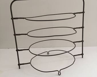 Vintage Wire Pie Plate Rack Stand Cooler