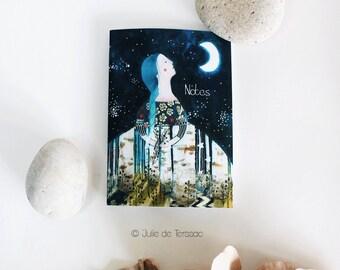Carnet illustré - A6 - Mona Luna