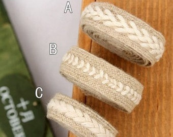 5 Yards, Natural Zakka Style Linen Cotton Rope