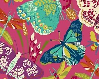 Butterfly Dance, Hot Pink 1 Yard