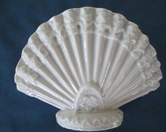 Vintage Ceramic Fan Letter Napkin Holder Vintage Kitchen Home Decor Kitchen Storage Beach Decor Dining