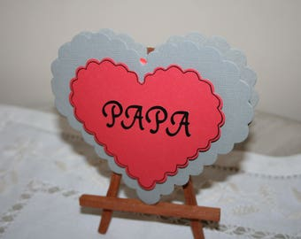 Heart fathers day card
