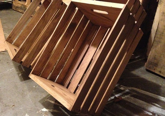 rustic wooden crate storage crate home decor. Black Bedroom Furniture Sets. Home Design Ideas