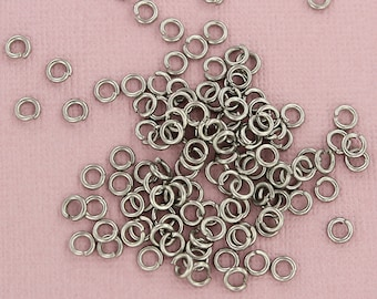 100 Jump Rings Stainless Steel 4.5mm x 1mm - Open Jump Rings - SS046 NEW2