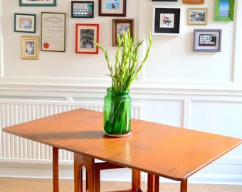 Vintage Midcentury McIntosh drop leaf teak table. Delivery. Modern/ retro / Danish style.
