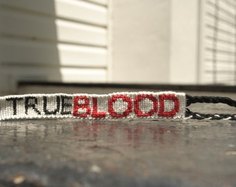 True Blood Friendship Bracelet --- S A L E