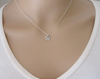 Butterfly Necklace, Sterling Silver, Minimalist Necklace, Silver butterfly Necklace, Dainty Necklace, Girls Necklace, Animal Necklace