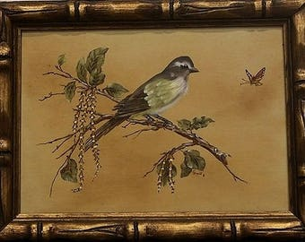 Vintage - Bird on a Branch 11x14