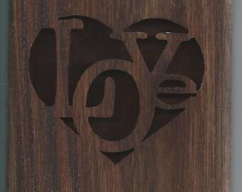 Love heart gift card holder