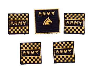 Black and Gold United States Army Coasters, Set of 4 Coasters with Coordinating Box