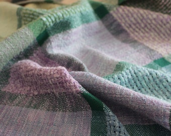 Handwoven Baby Blanket - Gender Neutral Boy Girl - Handwoven Square - Table Cloth - Runner
