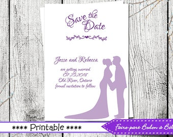 Printable Save-the-date Post Card - Save-the-date- printable card -  Digital printable