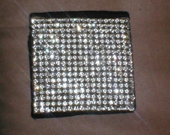Antique Vintage Rhinestone Compact Case