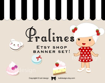 Pralines - Premade Etsy Shop Cover set
