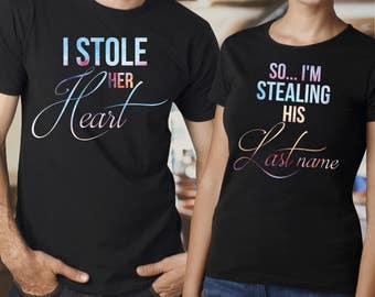 Husband and wife shirts / Just married shirts / couple shirts / his and hers shirts / cute couple shirts / couple outfits / wedding shirts