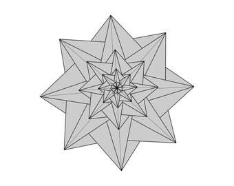 Origami Diagram for Star Mathilda