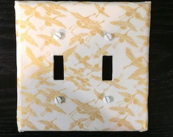 Origami decoupage Double Switch Plate double light switch cover