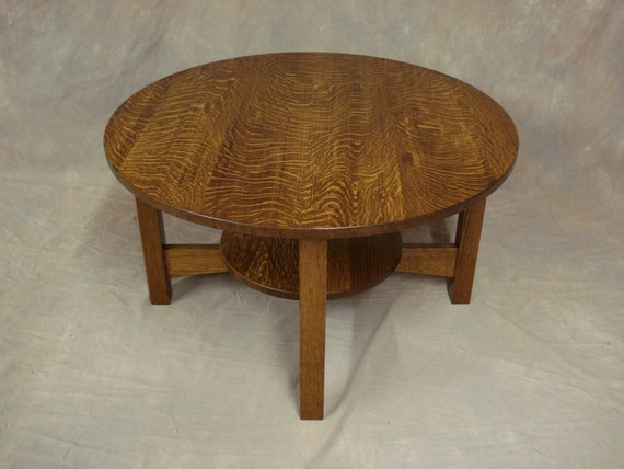 round quartersawn oak or cherry mission coffee table free. Black Bedroom Furniture Sets. Home Design Ideas