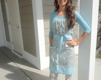 By the Seashore ~ Gathered Gabrielle - 4RetroSisters Womens Full Apron