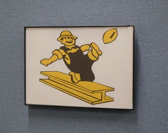 Retro Pittsburgh Steelers Wall Art Hand Made Vintage Steelers