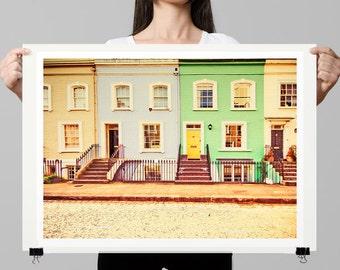 fine art photography print, London art print, London houses -  At Home In London