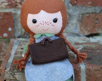 Anne of Green Gables, Felt Doll, Anne of Green Gables Doll, Handmade Dolls