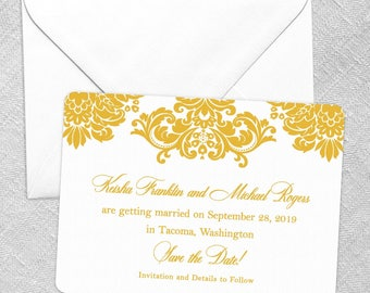 Sonoma - Card - Save the Date - Includes Back Side Printing + Envelope