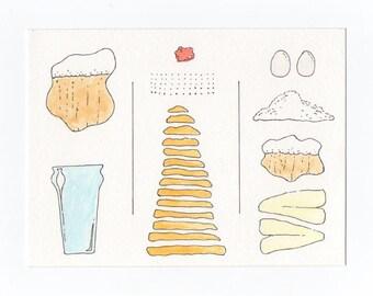 "Fish n Chips Recipe Card - 5"" x 7"""