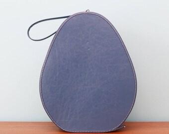Lovely little mod 1960s teardrop shaped bag in blue