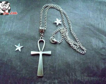 Silver Cross of life - Ankh cross necklace