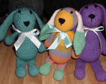 Handmade Crocheted Amigurumi Little Bunny Foo Foo by The Knitting Gnome.. Cute