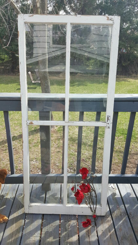 Vintage Wood Window Four 4 pane Home Decor Modern Farmhouse